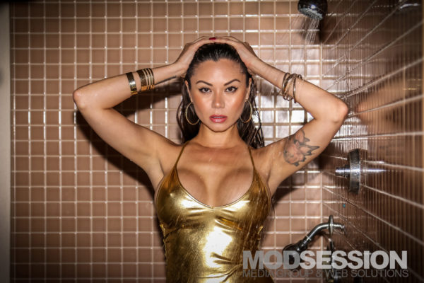 Jennie Reid Gold Bathing Suit Shower